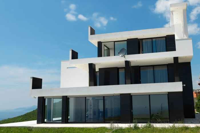 43183455 – external view of a contemporary house modern villa